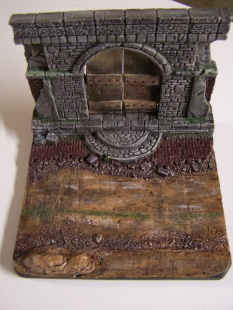 MoDio European Arch with Base Kit # BM-004  Basewithdoorweatheredoverhead