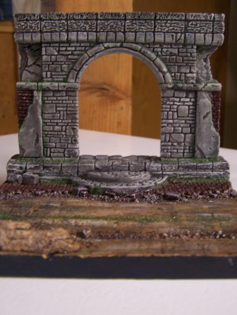 MoDio European Arch with Base Kit # BM-004  BasicPaintandweatheringfront