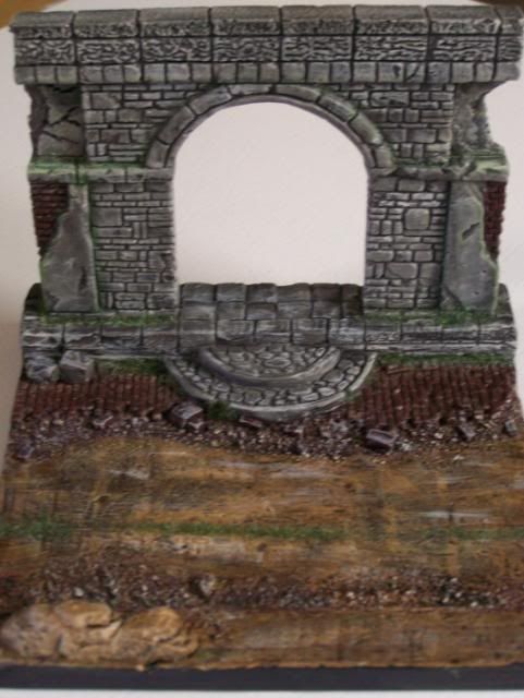 MoDio European Arch with Base Kit # BM-004  BasicPaintandweatheringfrontoverhead