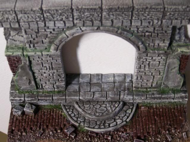 MoDio European Arch with Base Kit # BM-004  Basicpaintandweatheringwalloverhead