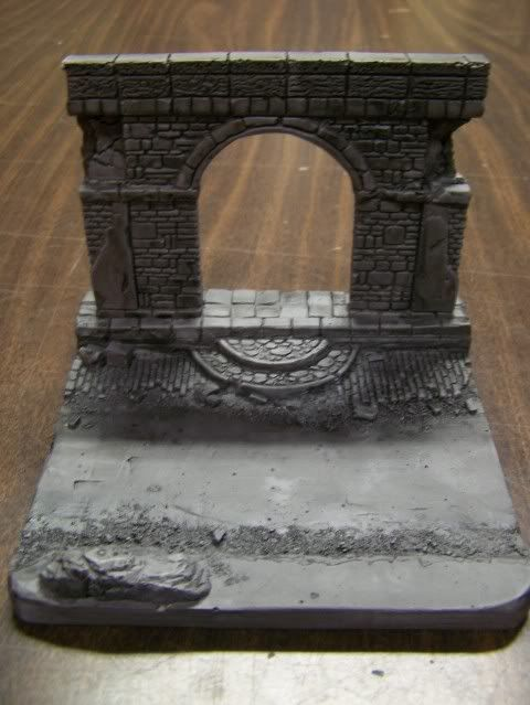 MoDio European Arch with Base Kit # BM-004  Basefrontcloseupwithblackwash