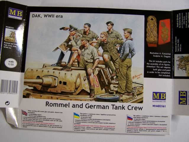Master Box Rommel and German Tank Crew Rommelandtankcrewfront