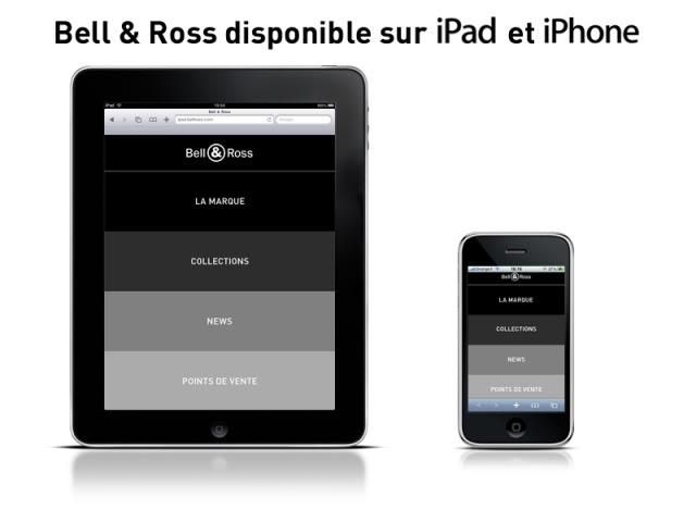 Actu : L'horloger Bell and Ross s'offre un site dédié à l'iPad BellRoss-HomepageiPadsiteText