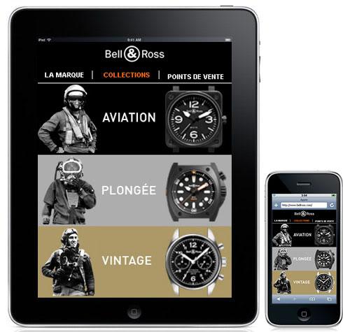 Actu : L'horloger Bell and Ross s'offre un site dédié à l'iPad IPadCollectionspage