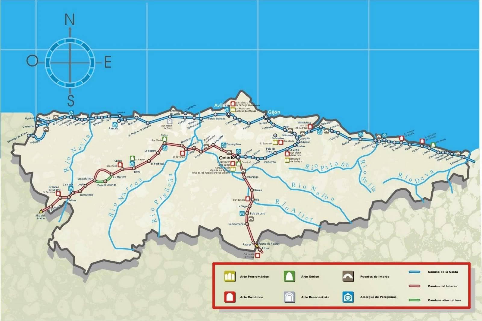 Camino de Santiago LosCaminosenAsturias