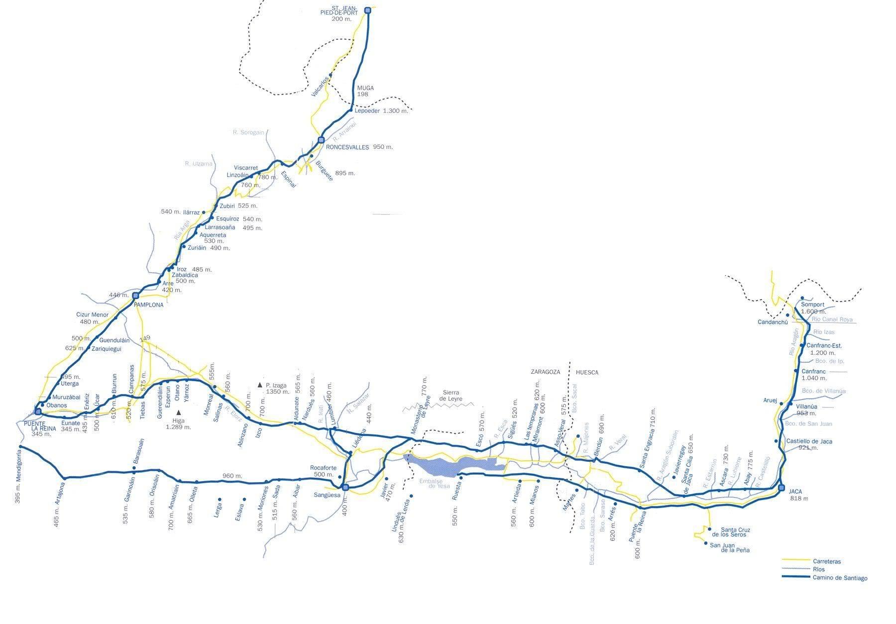 Camino de Santiago Mapa1