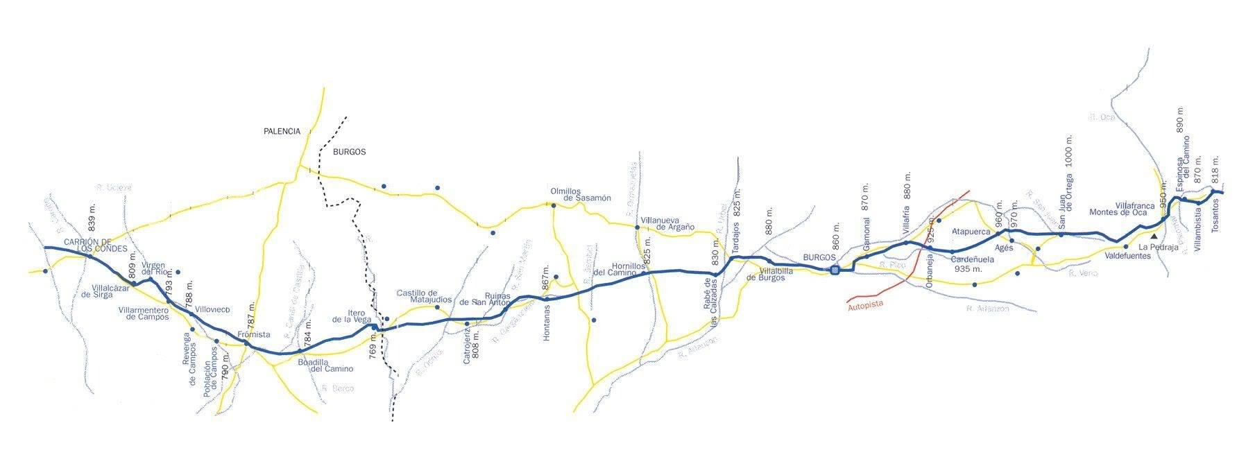 Camino de Santiago Mapa2