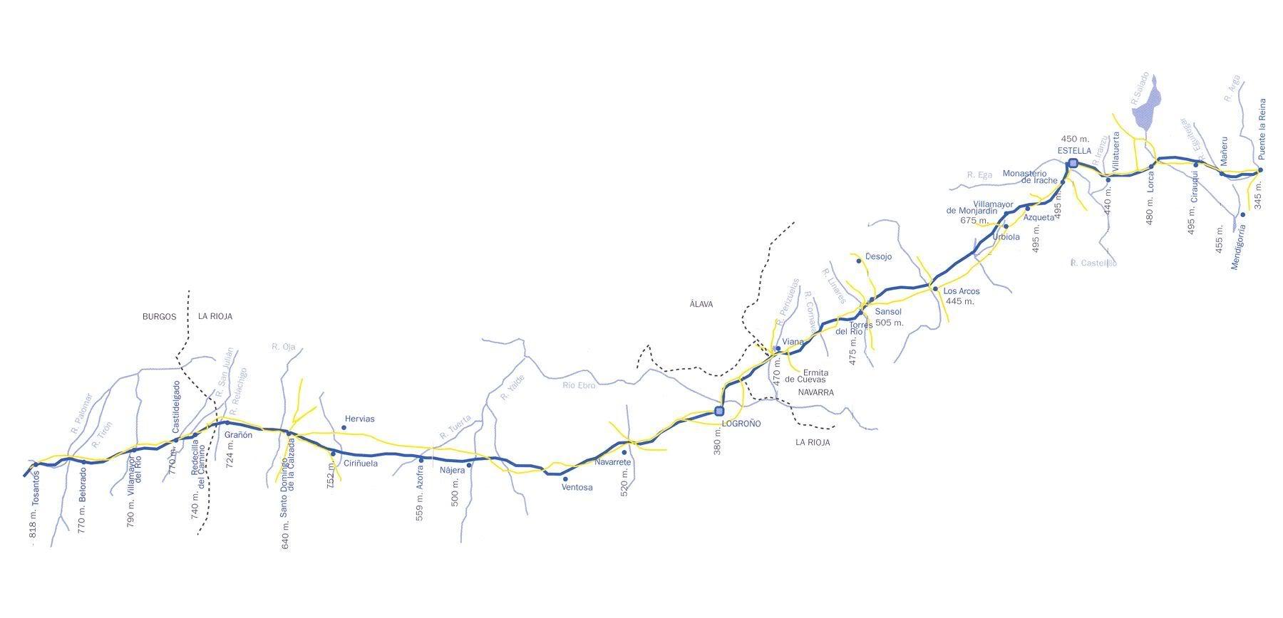 Camino de Santiago Mapa3