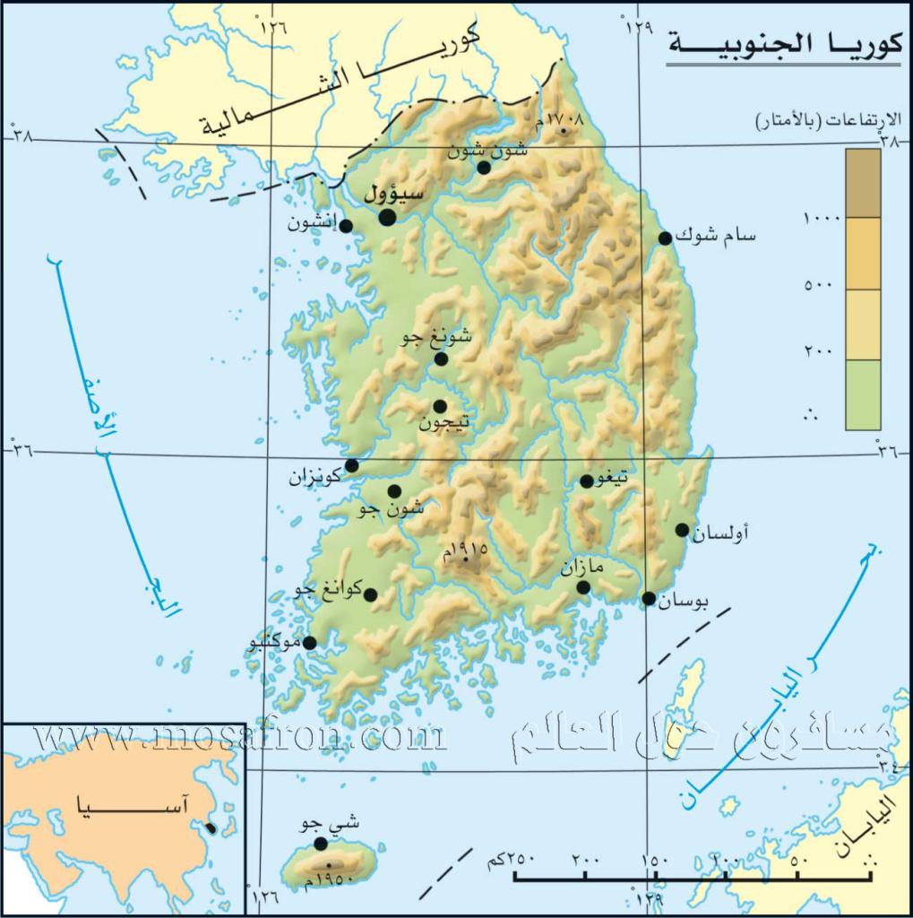 كــوريا تـــايم$ South-Korea-Arabic-mapbig