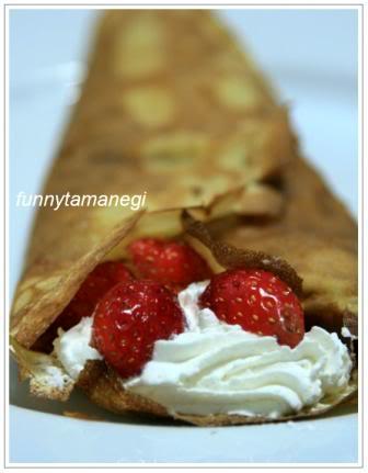 [Pháp - France][Recipe] Bánh Crêpe dâu và kem 1