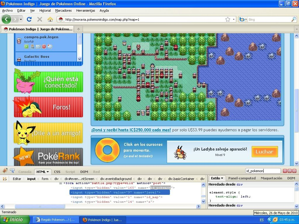 Hack Pokemon Dorado Evento FireBug 1.4 By FoxCasador 1-15