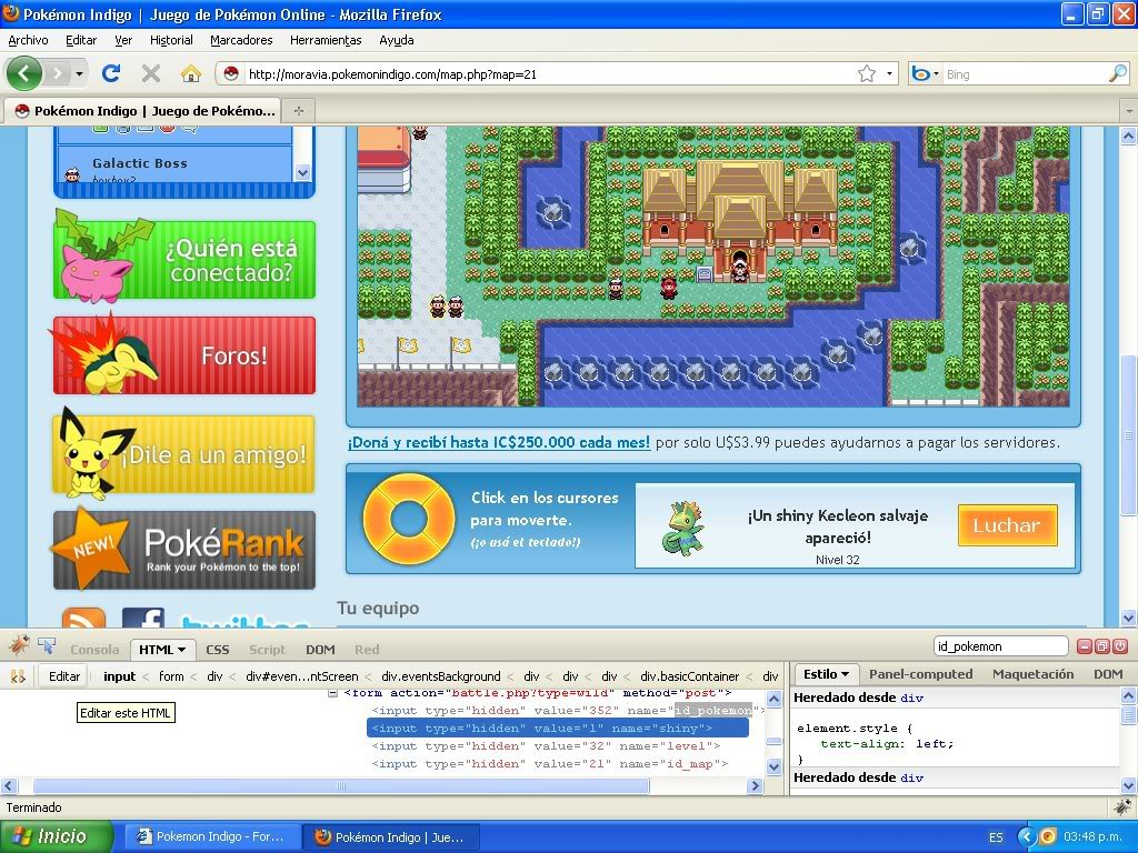 Hack Pokemon Dorado Evento FireBug 1.4 By FoxCasador 2-9