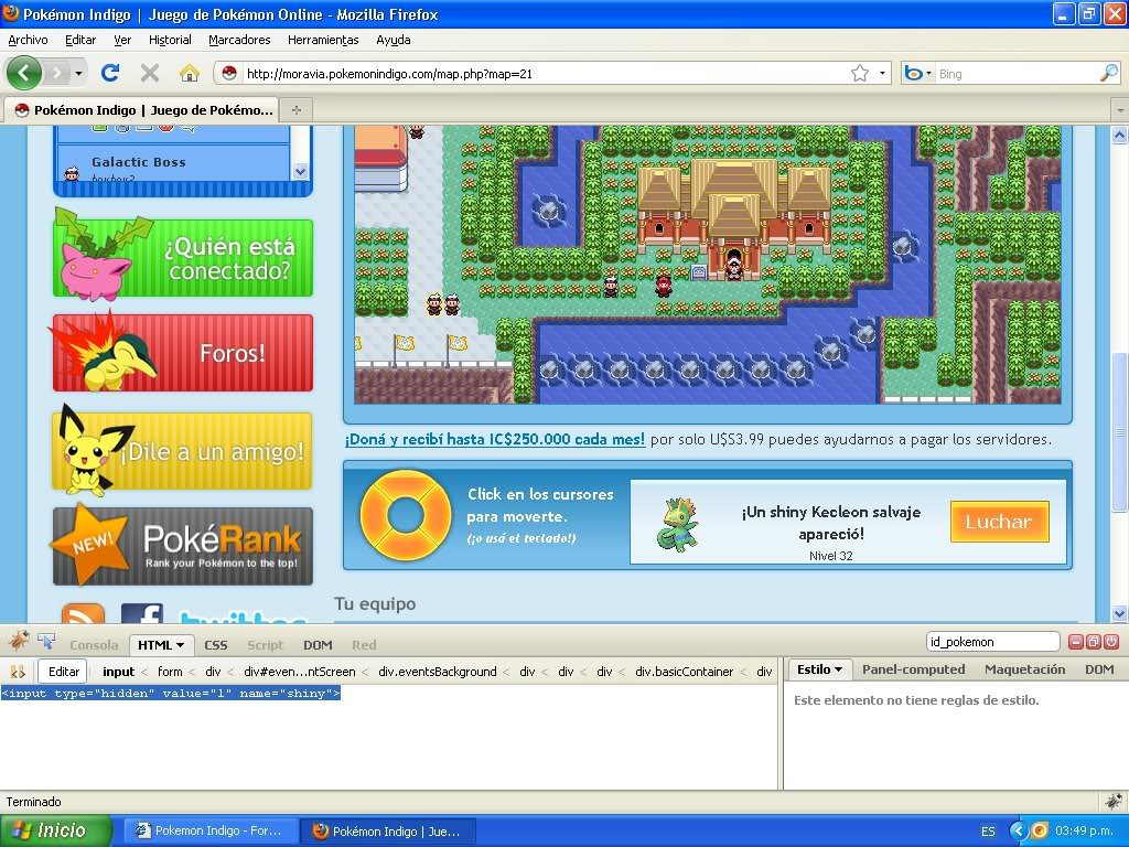 Hack Pokemon Dorado Evento FireBug 1.4 By FoxCasador 3-7