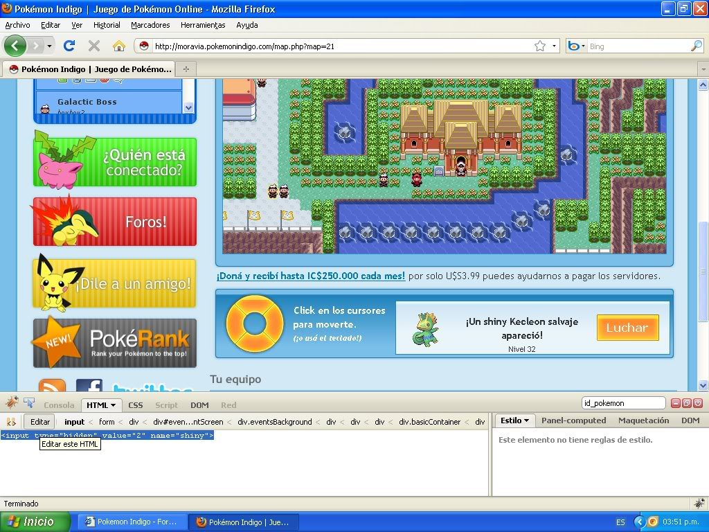 Hack Pokemon Dorado Evento FireBug 1.4 By FoxCasador 5-4