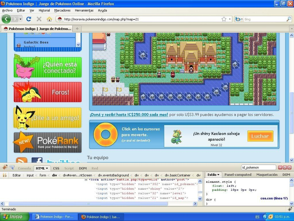 Hack Pokemon Dorado Evento FireBug 1.4 By FoxCasador 6-5