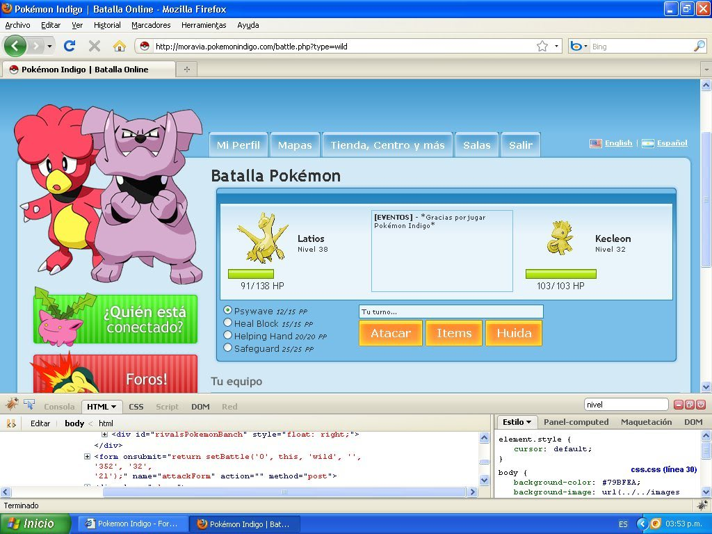 Hack Pokemon Dorado Evento FireBug 1.4 By FoxCasador 7-4