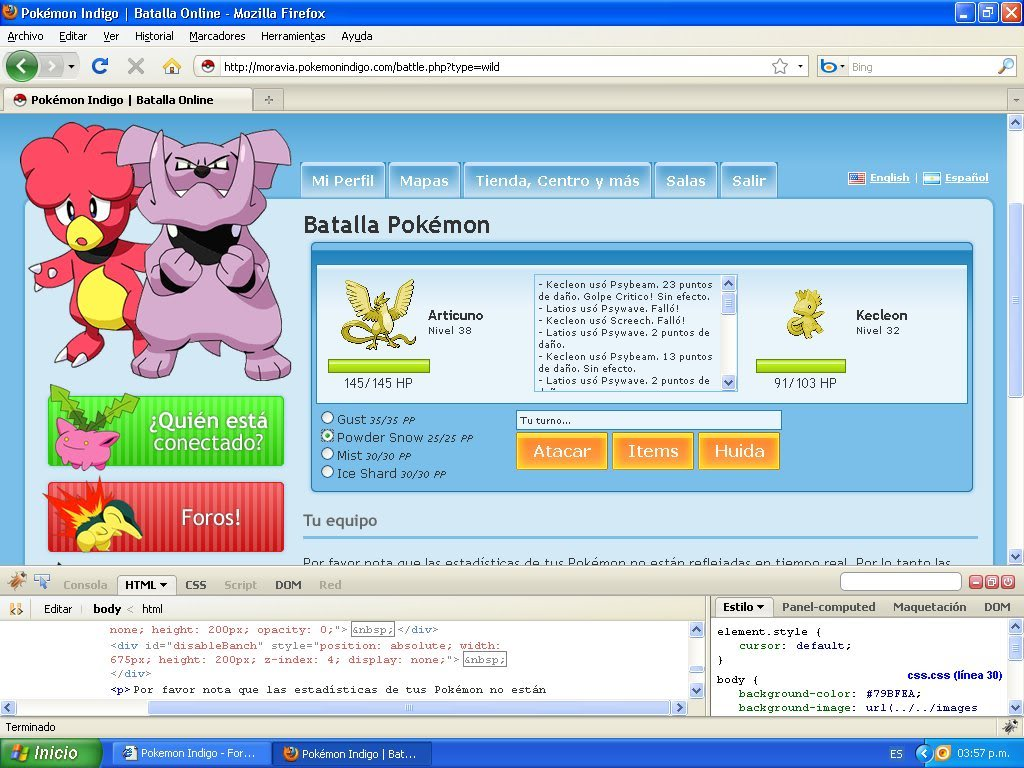 Hack Pokemon Dorado Evento FireBug 1.4 By FoxCasador 9-4