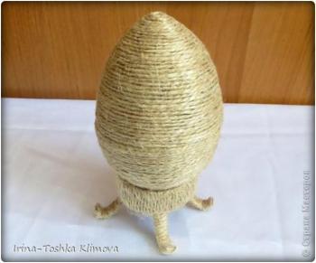 Пасхальные яйца из ткани, лент, джута.... Ce7fa2fea901ddc297b802c39b959396