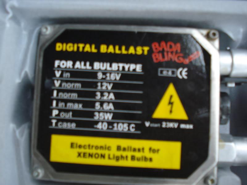 WTS:Bada Bling HID's 8K 35W DSC02468