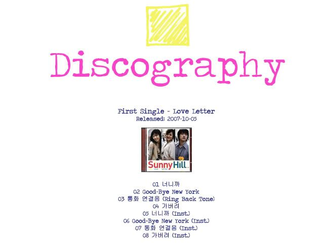 [K-Groupe] Sunny Hill Discography-1