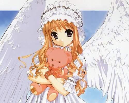 صور انمي مع دميتهم AngelwithteddyBear