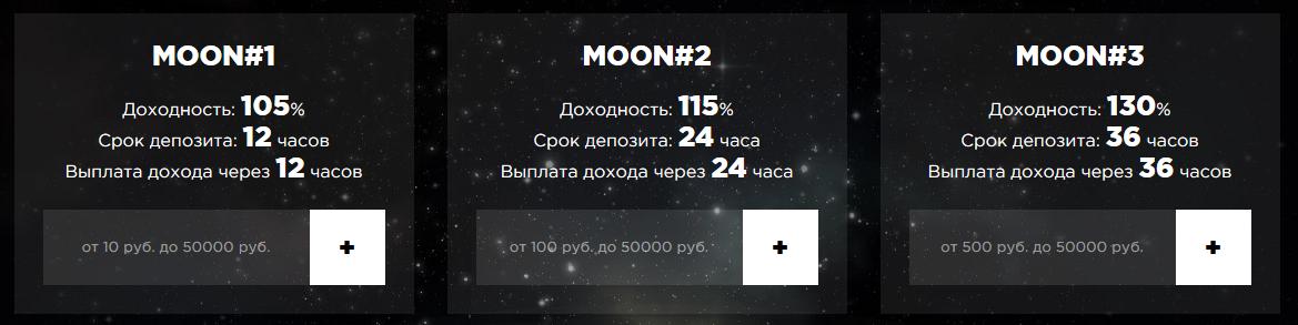 MOON MONEY - Доходность от 105% до 130%, сроки от 12 до 36 часов! Marketing