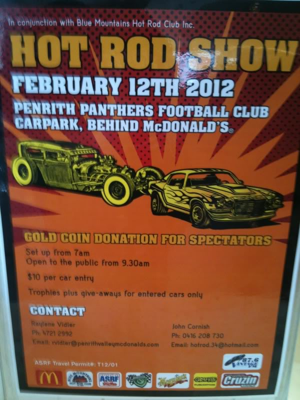 Hot Rod Show - Penrith Panthers 12th Feb 2012 Photo