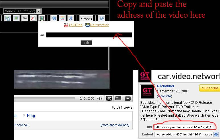 How do i attach a link, picture or video ? Youtube-video