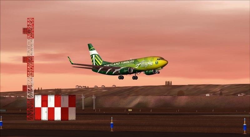 Seattle (KSEA) - Portland (KPDX): Boeing 737-700 NG Alaska Portland Timbers Avs_1194_zpsfy5kiass