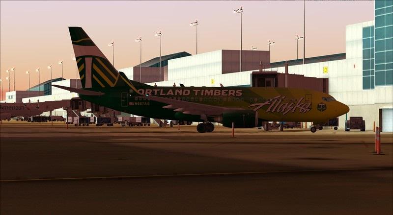 Seattle (KSEA) - Portland (KPDX): Boeing 737-700 NG Alaska Portland Timbers Avs_1204_zpswczox2no