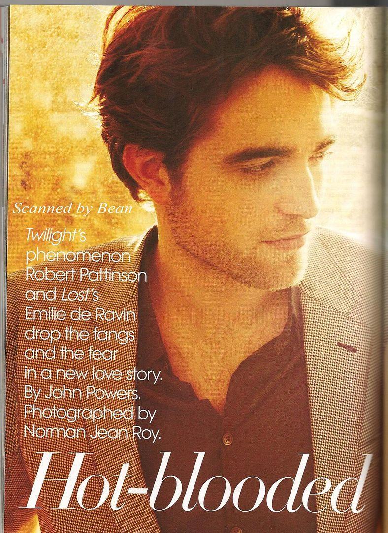 Robert: Photoshoots y Magazine Scans AVogue2