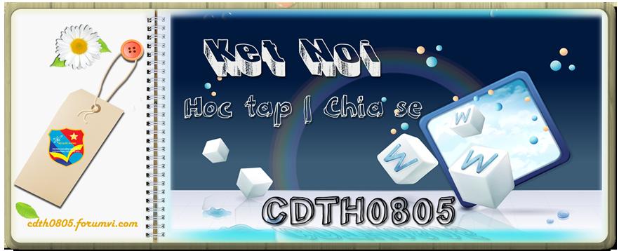 Diễn đàn lớp CDTH0805/27