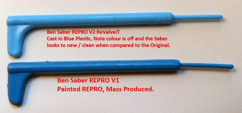 Repo / Original Light sabers Float / Sink ? - Page 2 BenSaberREPROSComparision