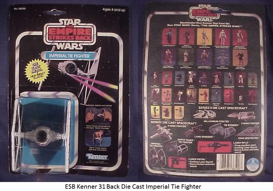 Vintage Die Cast Tie Fighter Thread ESBKenner31BackDieCastImperialTieFighter