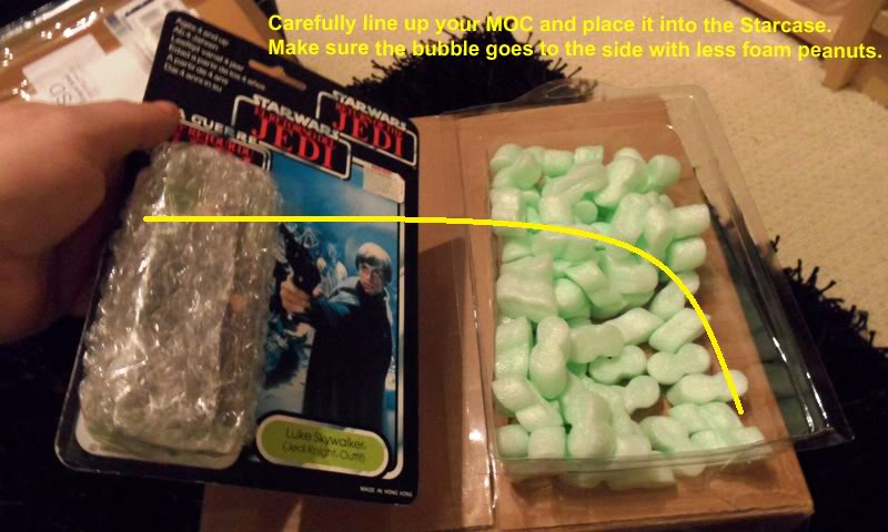 Picture Guide 1 - How to Pack a Vintage Star Wars MOC safely and protect the bubble using the starcase method (Pic Heavy) PackingaMOC14TIG