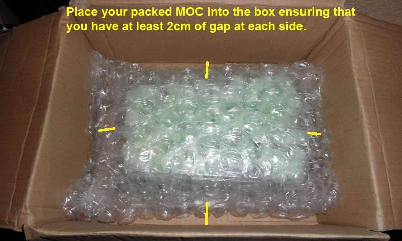 Picture Guide 1 - How to Pack a Vintage Star Wars MOC safely and protect the bubble using the starcase method (Pic Heavy) PackingaMOC21TIG