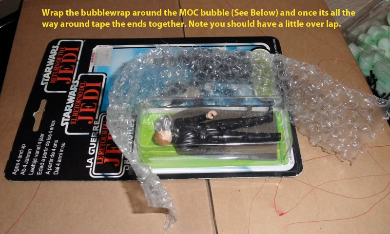 Picture Guide 1 - How to Pack a Vintage Star Wars MOC safely and protect the bubble using the starcase method (Pic Heavy) PackingaMOC3TIG