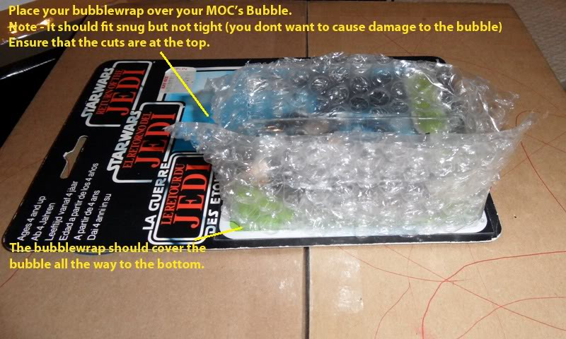 Picture Guide 1 - How to Pack a Vintage Star Wars MOC safely and protect the bubble using the starcase method (Pic Heavy) PackingaMOC5TIG