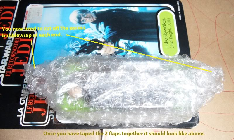 Picture Guide 1 - How to Pack a Vintage Star Wars MOC safely and protect the bubble using the starcase method (Pic Heavy) PackingaMOC8TIG