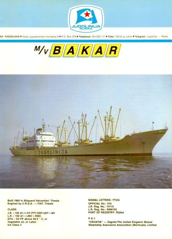 """Katalog brodova """"Jugolinije"""" iz 1990. godine Bakar1mali"""