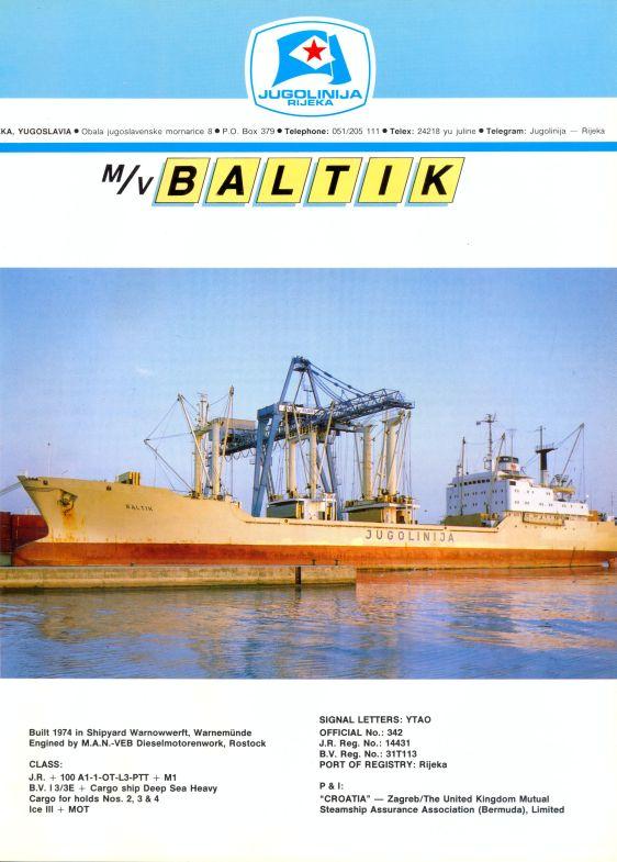 """Katalog brodova """"Jugolinije"""" iz 1990. godine Baltik1mali"""