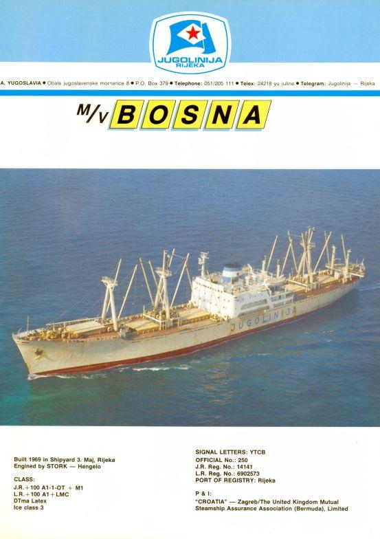 """Katalog brodova """"Jugolinije"""" iz 1990. godine Bosna1mali"""