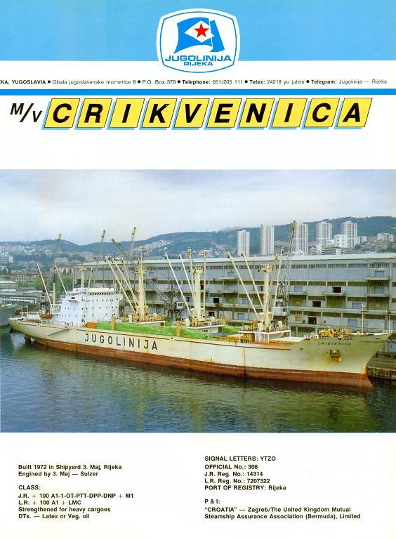 """Katalog brodova """"Jugolinije"""" iz 1990. godine Crikvenica1mali"""
