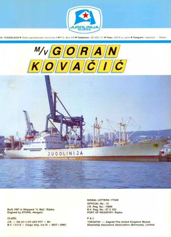 """Katalog brodova """"Jugolinije"""" iz 1990. godine GoranKovacic1mali"""