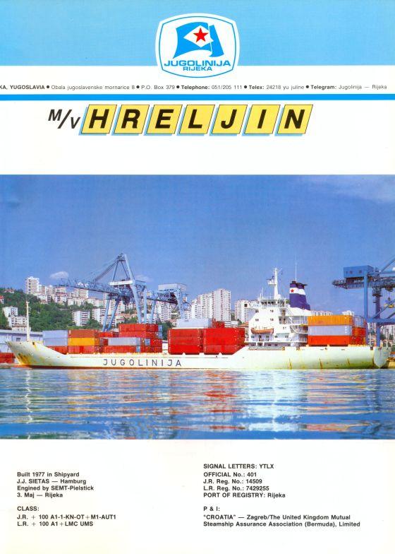 """Katalog brodova """"Jugolinije"""" iz 1990. godine Hreljin1mali"""