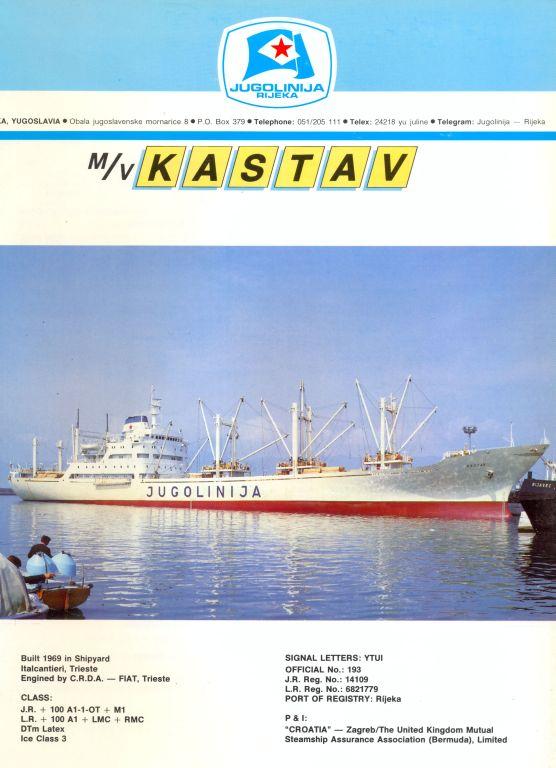 """Katalog brodova """"Jugolinije"""" iz 1990. godine Kastav1mali"""