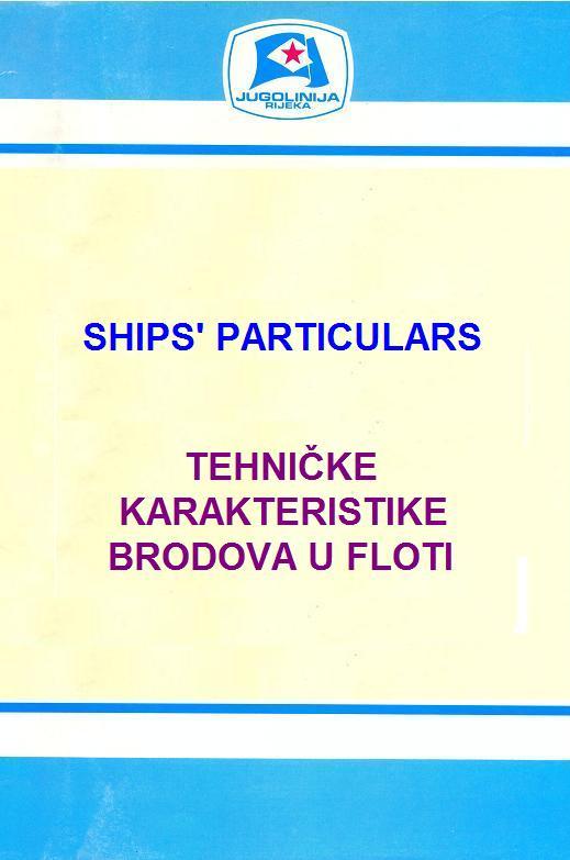 """Katalog brodova """"Jugolinije"""" iz 1990. godine Katalog01"""