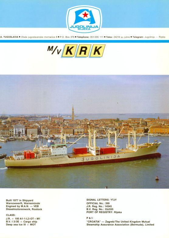 """Katalog brodova """"Jugolinije"""" iz 1990. godine Krk1mali"""