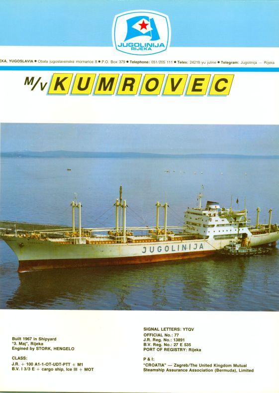 """Katalog brodova """"Jugolinije"""" iz 1990. godine Kumrovec1mali"""