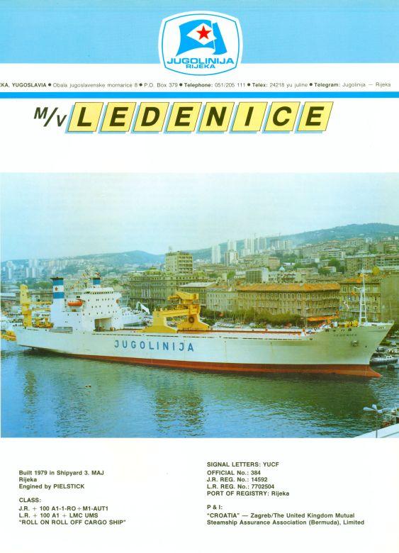 """Katalog brodova """"Jugolinije"""" iz 1990. godine Ledenice1mali"""